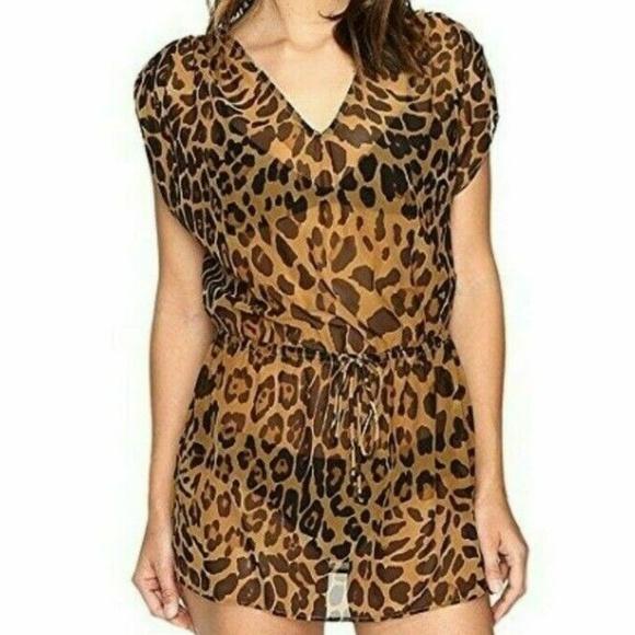 bb0f3c721ba42 Lauren Ralph Lauren Swim | Suit Coverup Leopard Tunic | Poshmark